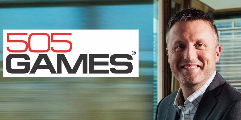 Tim alongside a 505 Games Logo