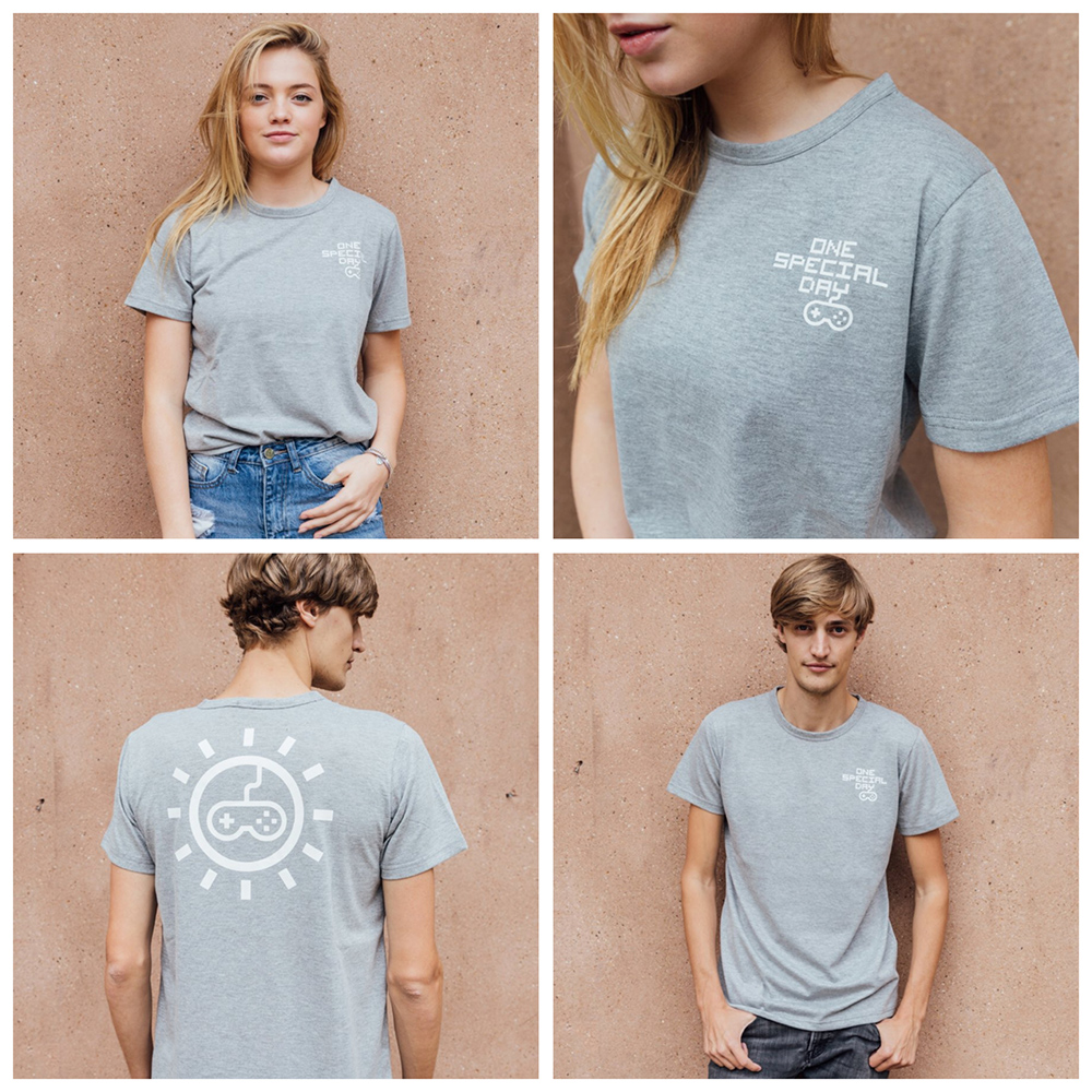 montage of models wearing the tee