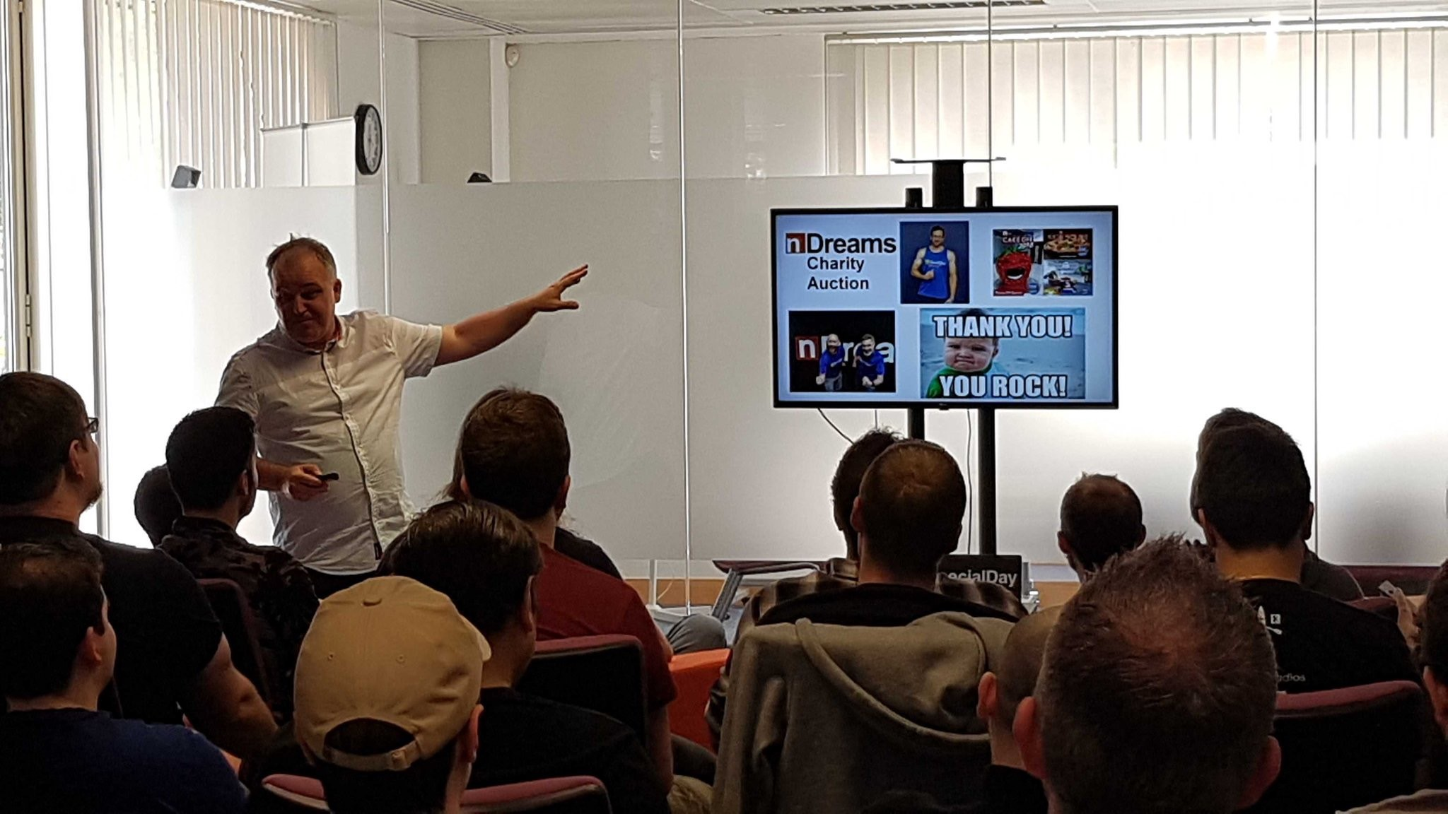 SpecialEffect's Nick presenting to audience