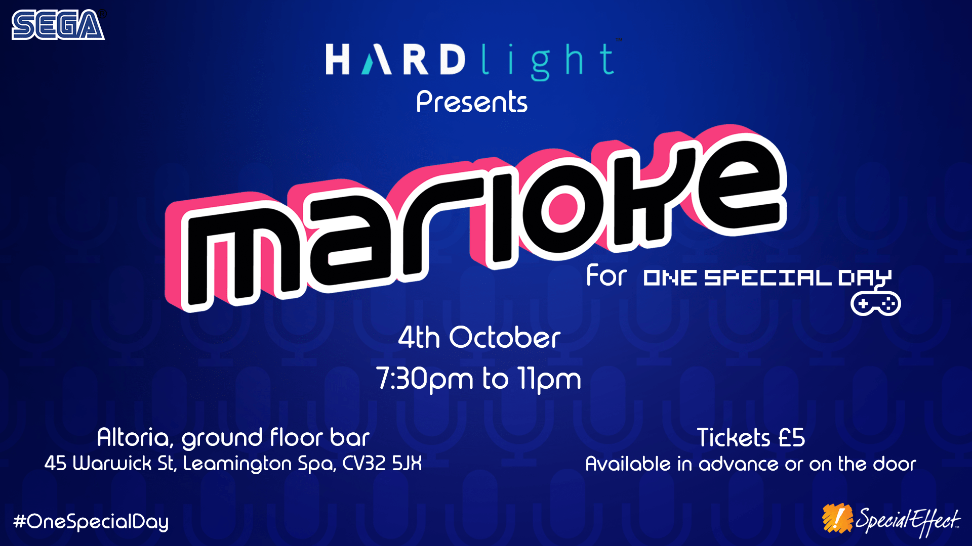 Advert for a videogame-themed karaoke event