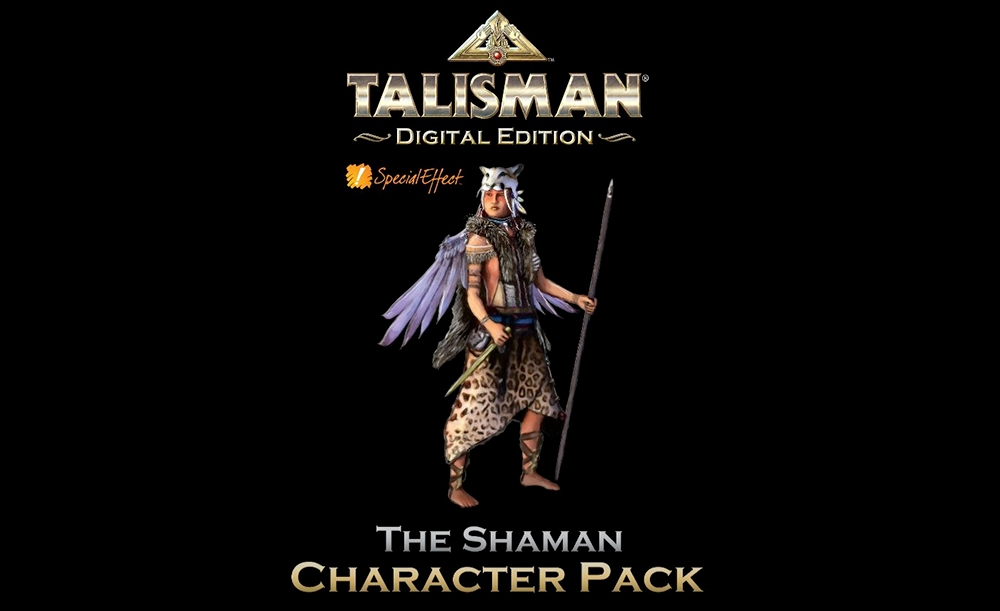 Shaman character with Talisman text