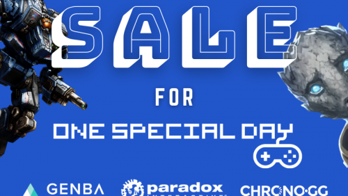 Genba, Paradox and Chrono.GG join forces for One Special sale
