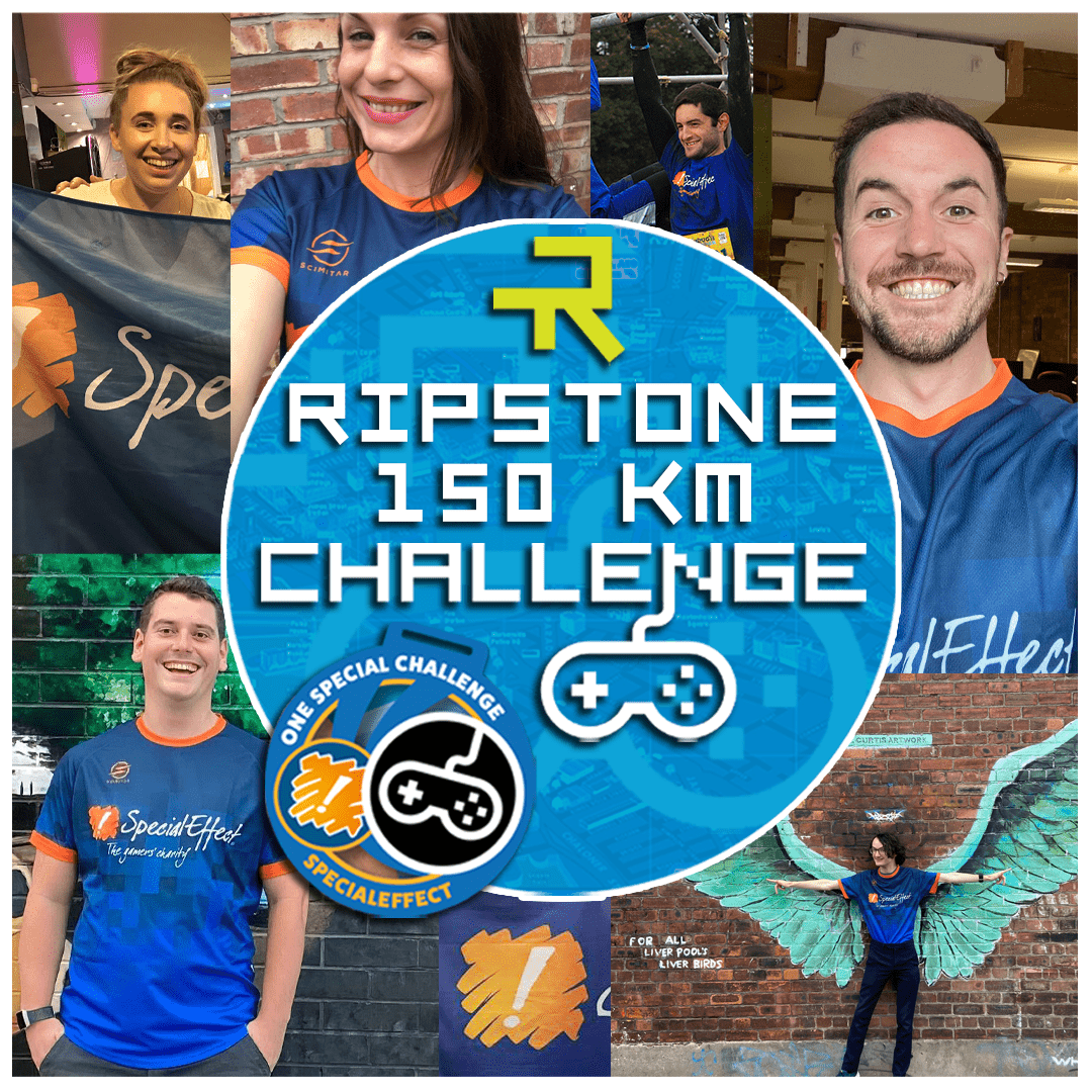 People in running tops and the words Ripstone 150km Challenge